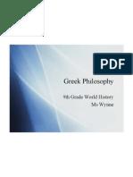 ancient greek philosophy 2009 ppt