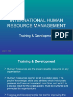 3304166 International HRM and TraininggDevelopment