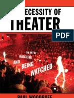 Woodruff - The Necessity of Theater