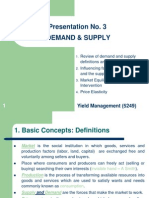 Yield Management No. 3 Supply and Demand
