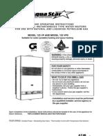 AquaStar 125vp Manual