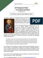 El Primado de Pedro en la Iglesia primitiva