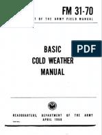 Fm Basic Cold Weather Survival Manual