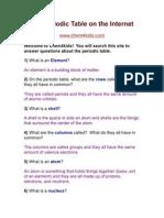 the periodic table webquest
