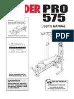 Weider 575 Pro Manual
