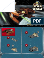 LEGO Droid Fighter Instruction Manual Set 7111