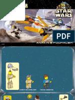 LEGO Anakin's Podracer Instruction Manual Set 7131