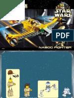 LEGO Naboo Fighter Instruction Manual Set 7141