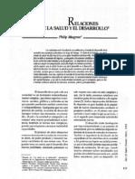 Musgrove, Philip. Relaciones Entre La Salud y El Desarrollo