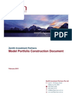 0912 Model Portfolio Construction Doc