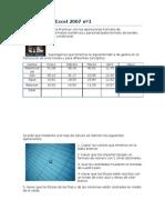 Ejercicios de Excel 2007 nº1