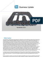 LinkedIn Business Update November 2011