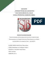 Etiologias Mas Frecuentes de La HUA en Mujeres de Edad Premenopausica (Proyecto de Investigacion