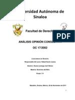 ANÁLISIS OPINIÓN CONSULTIVA OC 17