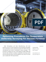 Temperature Uniformity Surveying for Vacuum Furnaces Optimizing Procedure for