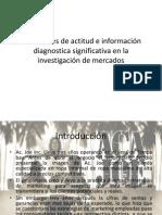 Mediciones de actitud e información diagnostica significativa en