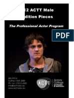 2012 ACTT Male Audition Pieces