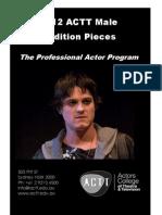 2012 ACTT Male Audition Pieces