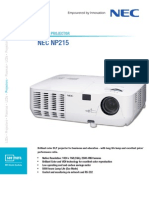 NEC NP215 Portable Projector