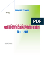RIFIUTI. RELAZIONE PIANO PROVINCIALE PESCARA _PPGR_2011_-_2015
