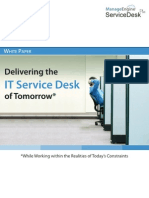 Delivering the It Service Desk of Tomorrow