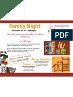 Nov Family Night