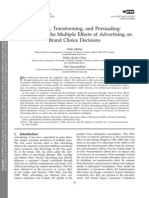 Informing, Transforming, And Persuading- Disentangling the Multiple Effects of Advertising on Brand Choice Decisions