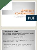 LIMITES Y ad de Funciones de Mas de Una Variable