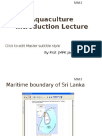Aquaculture Introduction Lecture