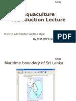 Aquaculture Introduction Lecture