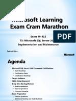 Slides Exam 70-432
