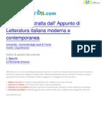 Letteratura_italiana_moderna_e_contemporanea_LingueStraniere_Università_degli_studi_di_Trento_Appunto_su_ABCtribe_29487