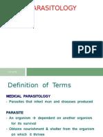 Parasitology Protozoa