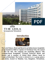 The Training Report at the Leela Kempinski,Mumbai