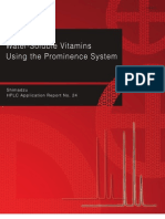 Analysis of Water Soluble Vitamins by Prominence System