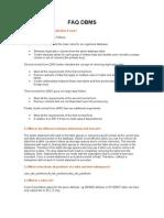 FAQ DBMS