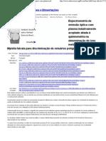 (Textos Acadêmicos - Espectrometria de emissão óptica com plasma indutivamente acoplado... - Artigos, Teses e Dissertações)