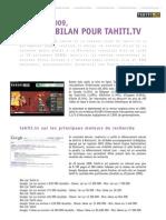 Tahiti.tv, la webtv de Tahiti et ses îles I Communiqué de presse du 9 septembre 2009