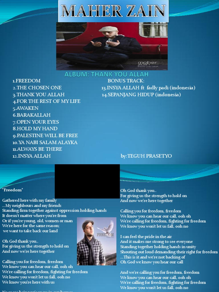 Album Maher Zain Lagu + Lirik | Prophets And Messengers In