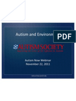 Autism Society of America Webinar with Autism NOW November 22, 2011
