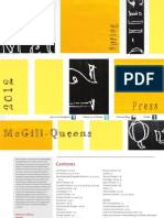 McGill-Queen's University Press Spring 2012 Catalogue