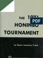 Kaoru Iwamoto the 1971 Honinbo Tournament