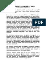 Manifiesto Contra El Sida