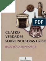 Libro Scalabrini Ortiz - Cuatro Verdades Sobre Nuestra Crisis