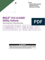 Kawasaki 610 Mule Owner's Manual