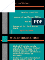 Report on Wolnet