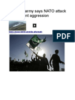 Pakistan Army Says NATO Attack Was Blatant Aggression