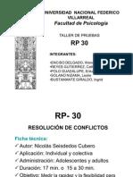 Test RP-30 (Resolucion de Conflictos