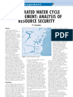 Australia; Integrated Water Cycle Management Analysis of Resource Security