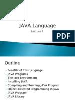 JAVA Language1